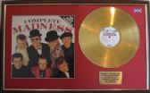 MADNESS - 24 Carat Gold Disc and LP Cover Presentation - COMPLETE MADNESS